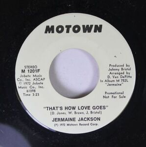 Soul-Promo-Nm-45-Jermaine-Jackson-034-That-039-S-How-Love-Goes-034-Stereo-034-That-039-S-H