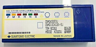 10 pieces Sumitomo CNMG 432 EEG AC5025S Grade Carbide Turning Insert