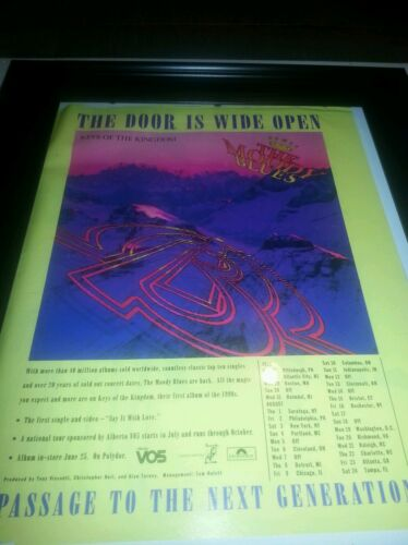 The Moody Blues Keys Of The Kingdom Rare Promo Poster Ad Framed! Printed Once!