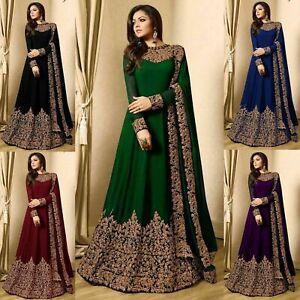 Indian-Bollywood-Pakistani-Salwar-Kameez-Designer-Anarkali-Suit-Traditional-JS