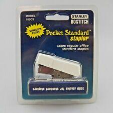Vtg Stanley Bostitch Mini Standard Stapler With 1000 Staples Model 100cs White Nos