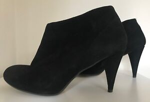 Boutique 41 Suede Heel Topshop High Eur Ankle Uk Cone Black Boot Leather 8 dF6q6A7Exw