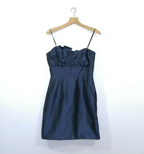 WISH-Size-12-Ladies-Blue-Ink-STRAPLESS-Dress-Cocktail-Evening-Events-189-BNWT