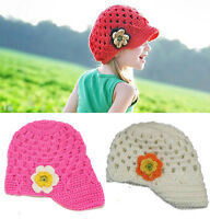 Girls Kids Toddler Baby Handmade Crochet Hat Cap Beanie Casquette Photo Props