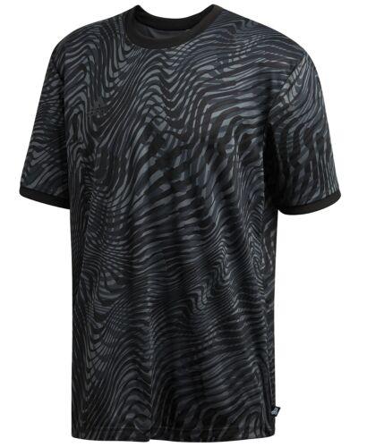Adidas Men/'s Black Tango ClimaLite Printed Crew-Neck Short Sleeve T-Shirt