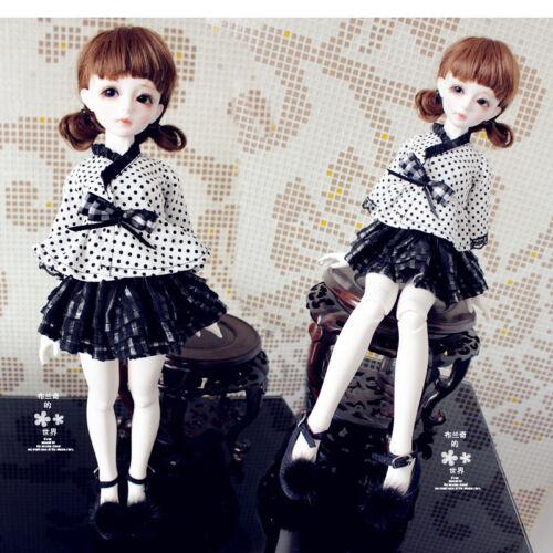 1/4 1/6 BJD MSD YOSD AE LUTS Clothes Sweet Grid Dress/Outfit/Suit(2pcs) Shirt