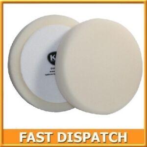 Esponja-de-pulido-suave-de-corte-K2-Duraflex-Velcro-150mm-Blanco-Coche-Pintura-Valeting