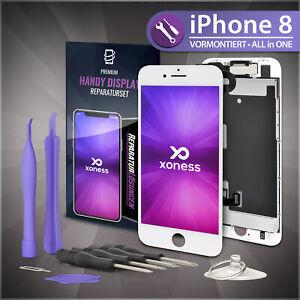 Ersatz-LCD-iPhone-8-Display-Weiss-KOMPLETT-VORMONTIERT-Retina-Bildschirm-Weiss