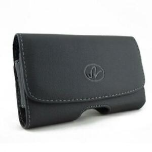 BLACK-LEATHER-SIDE-CASE-SIDE-COVER-POUCH-BELT-HOLSTER-CLIP-T3H-for-Smartphones
