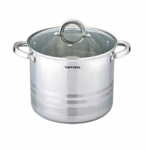 Deep-Stainless-Steel-Stock-Pot-Stew-Casserole-Pan-Inox-Large-All-Sizes-Induction