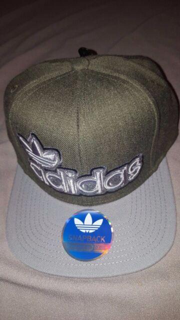 adidas Originals Mens Snapback Hat Adult Cap Green Grey With Tags 20794878 d8108c888b8