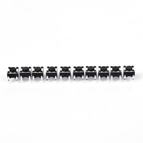 50pcs 6x6x4.3mm 4pin tactile tact push button micro switch dip feet copper BHCA