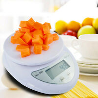 Portable Lcd Digital Scale Kitchen Food Diet 5kg 11lbs Bowl Electronic Weight