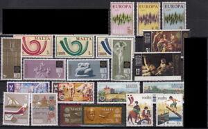 CEPT-Ausgaben-MALTA-aus-1971-1981-postfrisch-MW-15-00-TOP-2Y-108-2