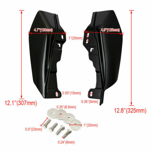 Black ABS Mid-Frame Air Deflector Heat Shield Fit For Harley Road King 2017-2019