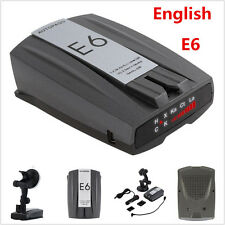 E6 Anti-Police Car Full Band GPS Speed Radar Detector Scanning Voice Alert Laser