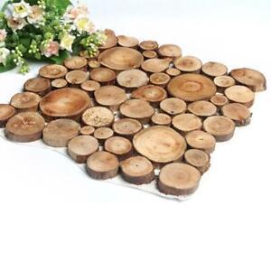 100pcs Natural Pine Wood Tree Bark Log Slices 2-3cm Round Crafts DIY Adornments