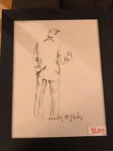 Krandel Lee Newton Original Charcoal Sketch. Signed And Dated.