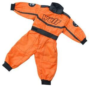 Kids-Wulfsport-Quad-Karting-MX-Racing-Overalls-Childrens-Overall-Orange-T