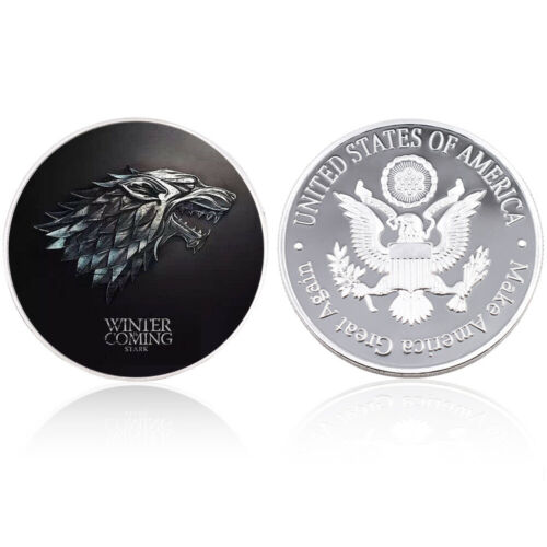 New Us Metal Coin Game of Thrones Silver Challenge Coins for Christmas Gifts
