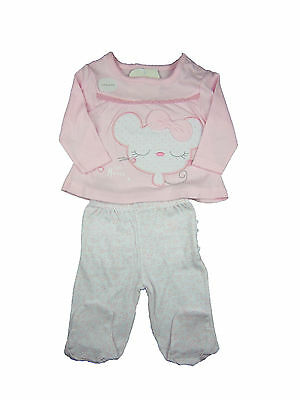 Baby Girl Clothing Outfit Top T-shirt Trousers Pink New