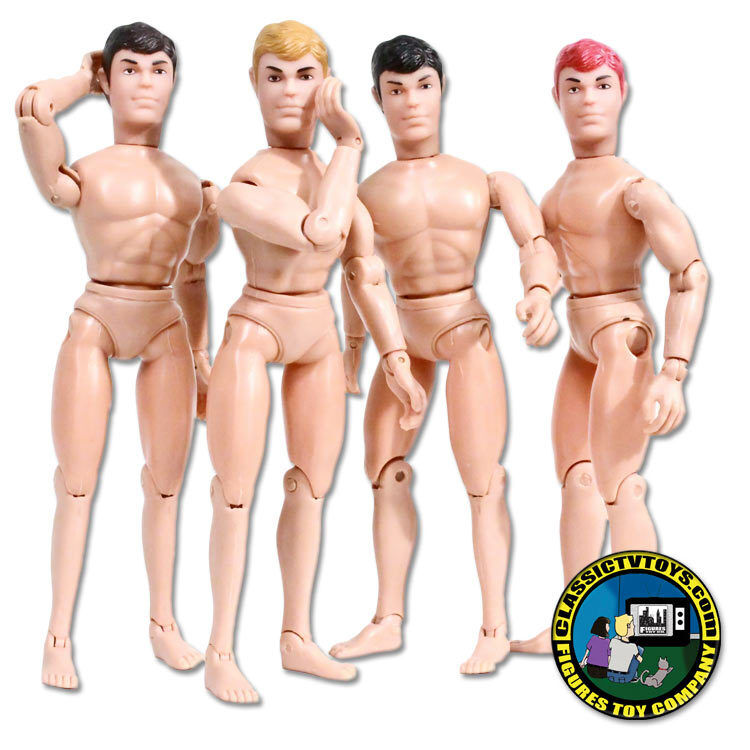 Set of 4 Teen Male Roto Molded Heads with Bodies for Wirkung figures