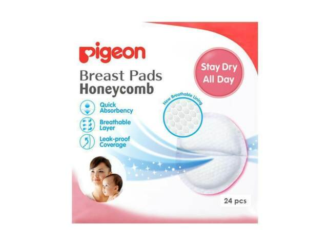 PIGEON BABY HONEYCOMB BREAST PADS 24 PACK