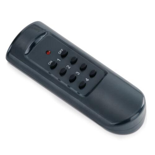 Intérieur radio boutons prises set gris//blanc 4er avec télécommande 30m prise de courant