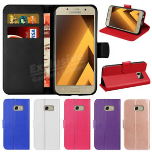 online store aef77 b2de1 Details about For Samsung Galaxy A3 A5 A7 A6 Luxury Flip Wallet Leather  Magnetic Case Cover