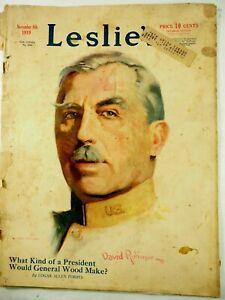 Leslie's Magazine Nov.8th 1919 What Kind of President would General Wood Make?