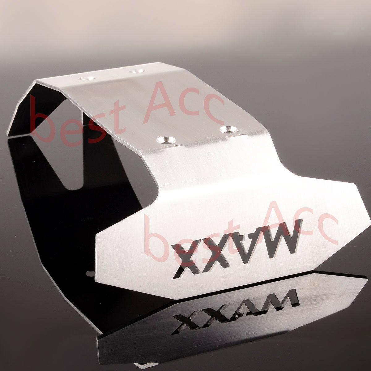 For RC Stainless Steel Steel Steel Chassis Armor davanti&Rear Skid Plate Traxxas X-Maxx XMAXX 5a3b82