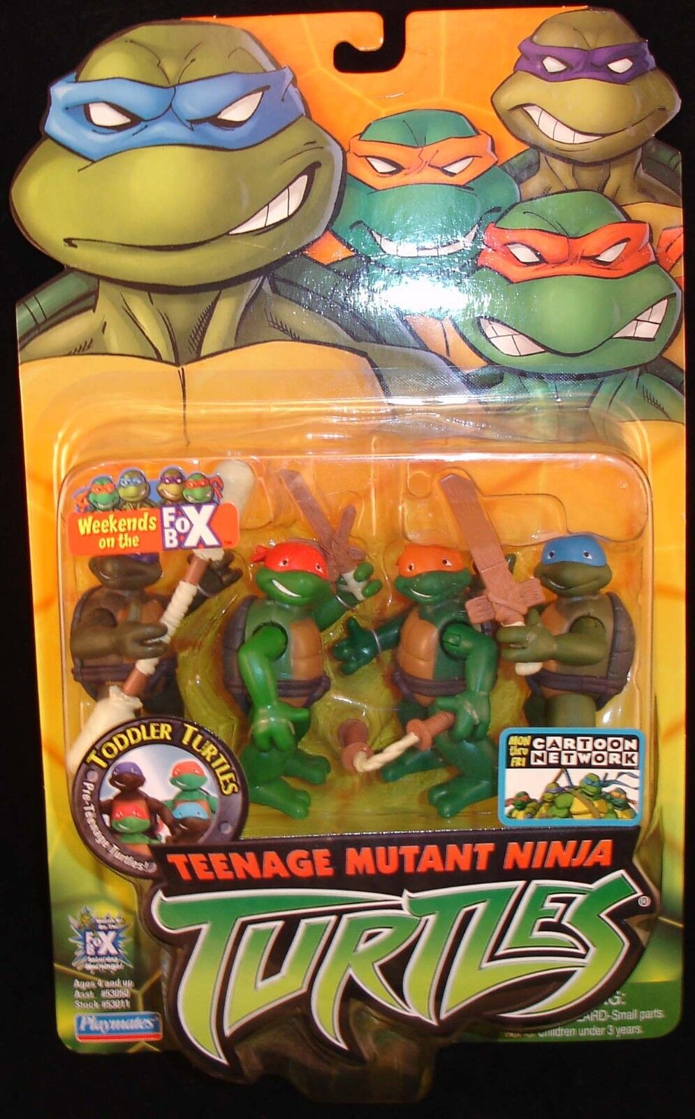 Teenage Mutant Ninja Toddler Turtles Tots TMNT '04 MOC MOC MOC 4 Kids Action Figures 2K3 624974