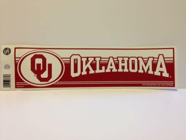 BRAND NEW Oklahoma Sooners Sticker - GREAT DEAL!!