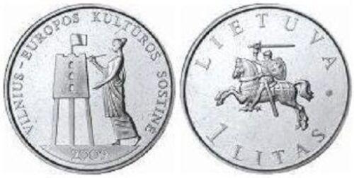 Lithuania 1 litas 2009 Vilnius Cultural Capital UNC