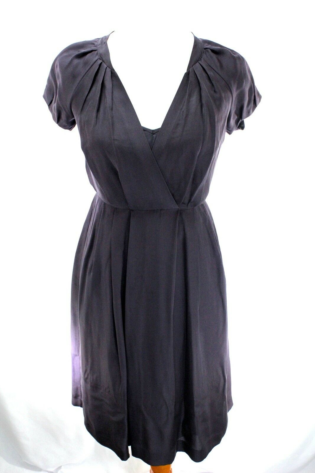 Banana Republic Women NWT Wrap Dress Size 0 Brown Career Pleated  130