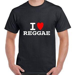 I-heart-love-REGGAE-T-shirt-BNWT-choose-colours-fun-retro-novelty-ragga-MUSIC