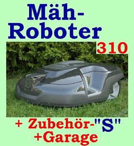 rasenroboter husqvarna automower 310 m hroboter zubeh rpaket s garage ebay. Black Bedroom Furniture Sets. Home Design Ideas
