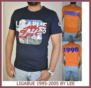 Lee t shirt maglia maglietta da uomo slim a manica corta ligabue s m blu cotone