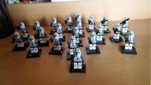 21-pcs-Minifigures-501st-Clone-Troopers-Blue-Star-War-Army-Trooper-lego-MOC