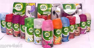 2-X-250ML-AIR-WICK-FRESHMATIC-MAX-AUTOMATIC-SPRAY-REFILL-Many-Fragrances-Airwick