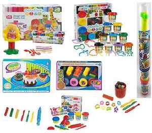 Plasticine-Dough-Craft-Gift-Play-Set-Tubs-Shapes-Children-Toys-Hobby-clay