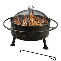 Fireplace Backyard Wood Burning Heater Metal Basket Star Patio Fire Pit Outdoor