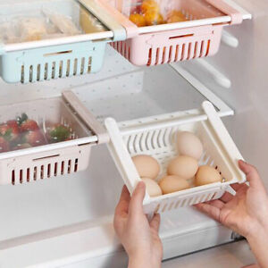 Fridge-Storage-Rack-Pull-out-Drawer-Slide-Refrigerator-Shelf-Kitchen-Holder