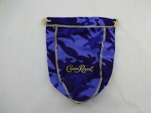 "Rare Limited Crown Royal Purple Camo Drawstring Bag 750ml  9"""