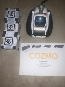Anki Cozmo Educational Robot Set for Kids W/ Charger And Cubes As Is