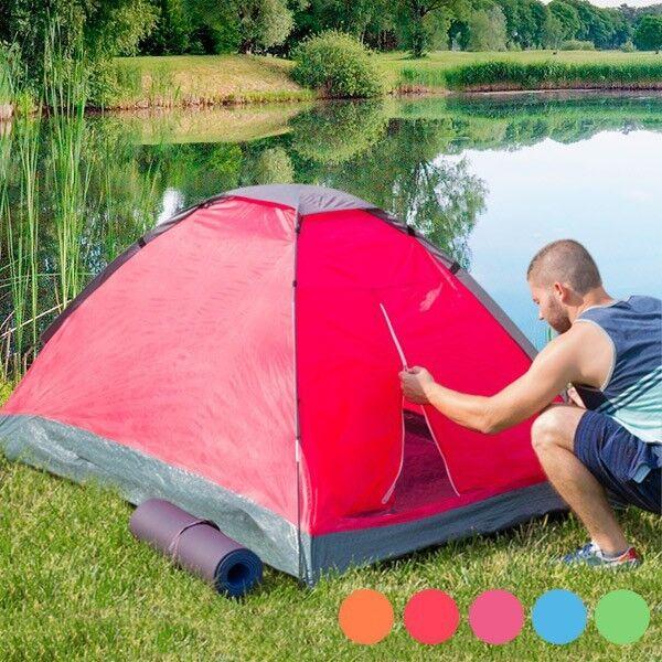 Tente dôme camping pour 2 personnes color - red