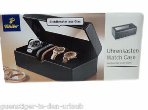 Responsible Tcm Tchibo Uhrenkasten Uhrenbox Uhrenaufbewahrung Uhrentruhe Box Neu Ture 100% Guarantee Watches, Parts & Accessories