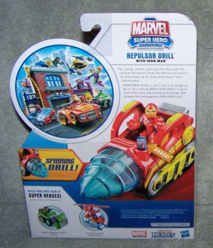 PLAYSKOOL 2011 MARVEL SUPER HERO ADVENTURES REPULSOR DRILL WITH IRON MAN