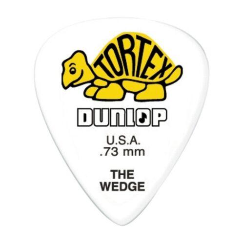 6 Dunlop Tortex, Wedge Picks -  .73mm