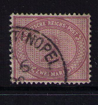 Deutsche Post in der Türkei, Mi-Nr. V 37 c , gestempelt, Vorläufer, Attest